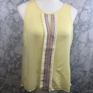 NWT Valentine Sleeveless Blouse With Lace Back